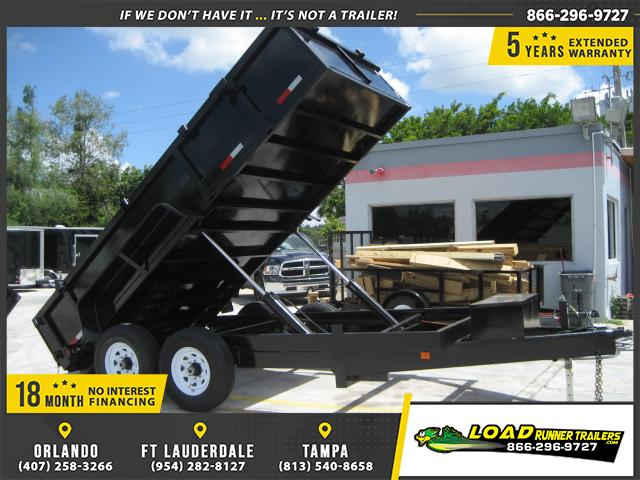 *DB55C* 7x14 7k Twin Piston DUMP TRAILER Dumps & TRAILERS 7 x 14 | D82-14T7-24S