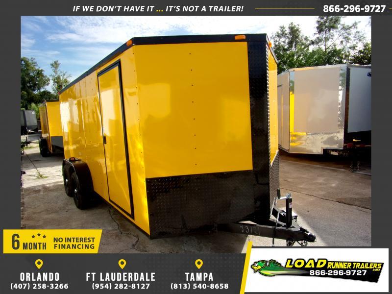 *116754* 7x16 Enclosed Cargo Trailer |LRT Tandem Axle Trailers 7 x 16