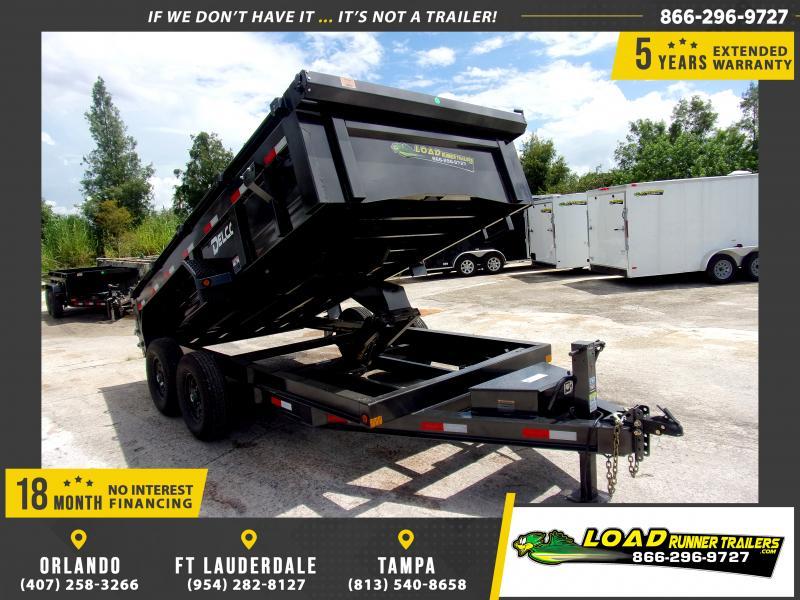 *116487* 7x14 Dump Trailer  LRT Tandem Axle Trailers 7 x 14