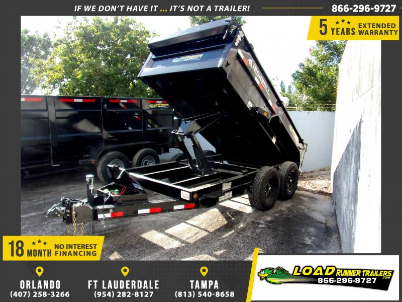 *112702* 6x12 Dump Trailer |LRT Tandem Axle Trailers 6 x 12