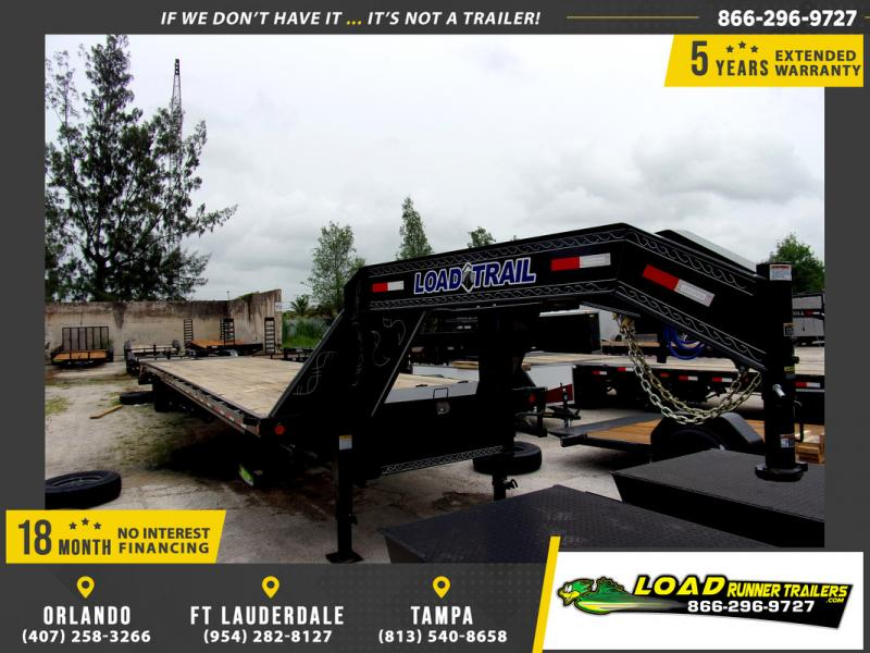 *109802* 8.5x40 Gooseneck Flatbed Deck Over Trailer |LRT Haulers & Trailers 8.5 x 40