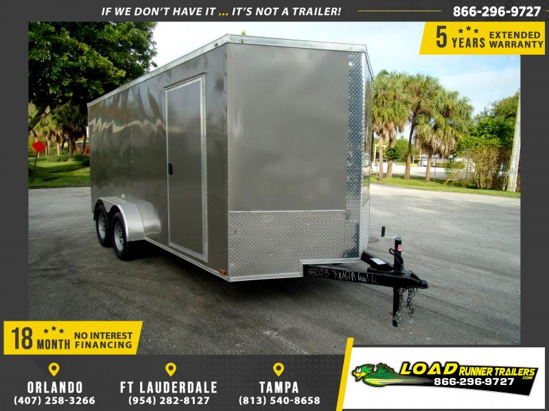 *112840* 7x16 Enclosed Cargo Trailer |LRT Tandem Axle Trailers 7 x 16