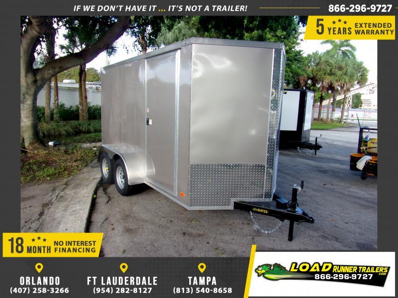 *112348* 6x12 Enclosed Cargo Trailer |LRT Tandem Axle Trailers 6 x 12