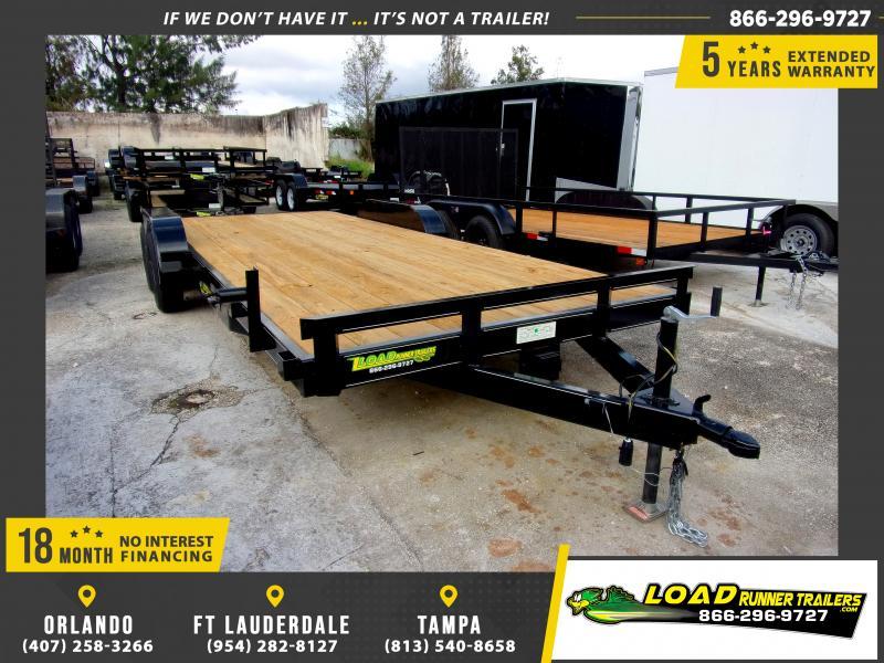*116603* 7x20 Car Trailer  LRT Tandem Axle Trailers 7 x 20
