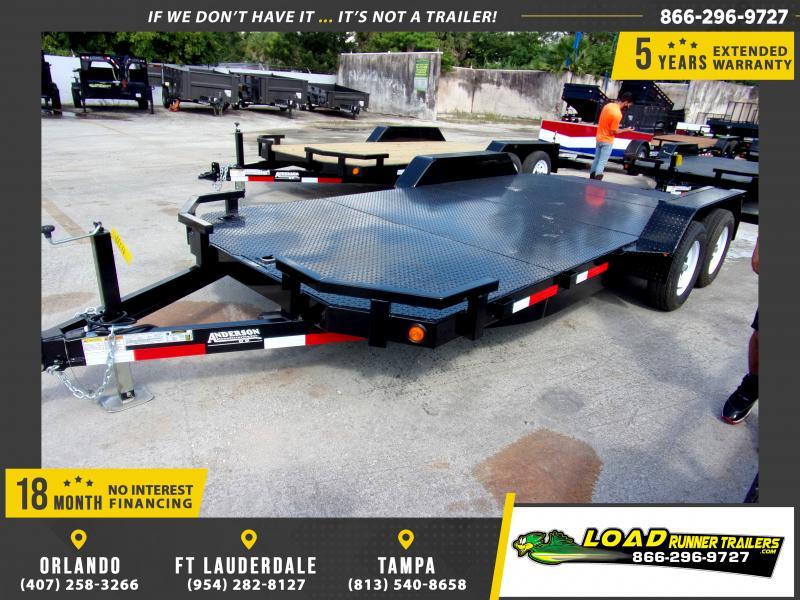 *111563* 7x18 Car Trailer  LRT Tandem Axle Trailers 7 x 18