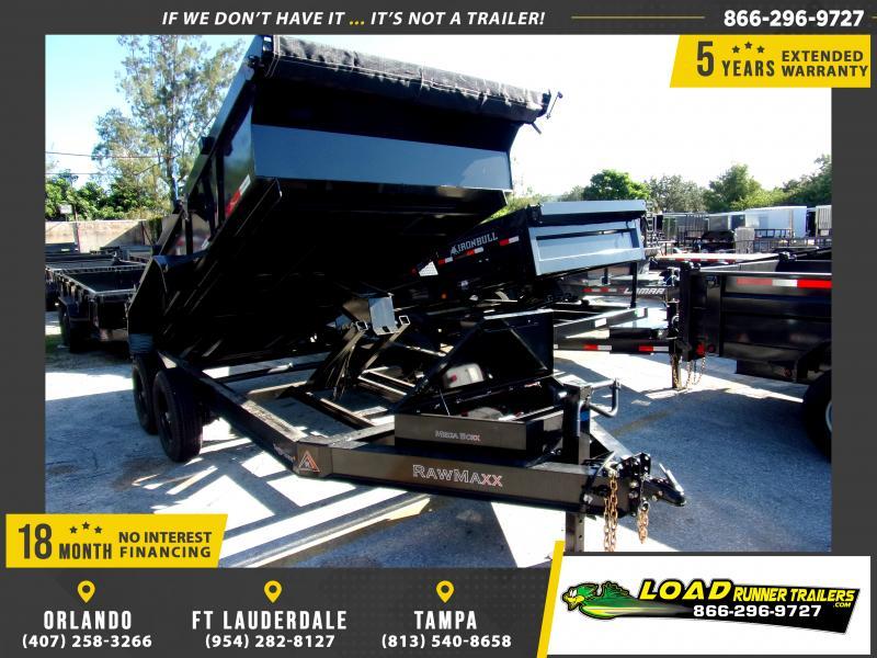 *117346* 7x14 Dump Trailer |LRT Tandem Axle Trailers 7 x 14