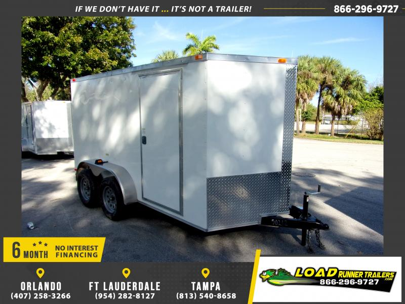 *113840* 6x12 Enclosed Cargo Trailer |LRT Tandem Axle Trailers 6 x 12