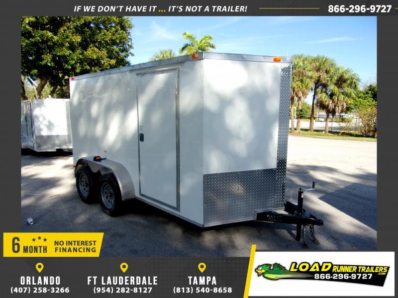 *113840* 6x12 Enclosed Cargo Trailer |LRT Tandem Axle Trailers 6 x 12