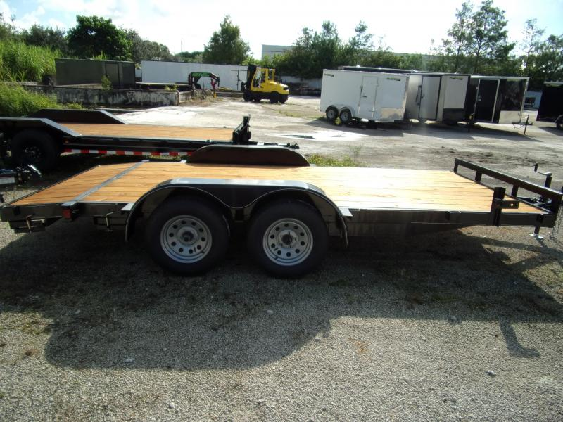 *110812* 7x16 Car Trailer |LRT Tandem Axle Trailers 7 x 16