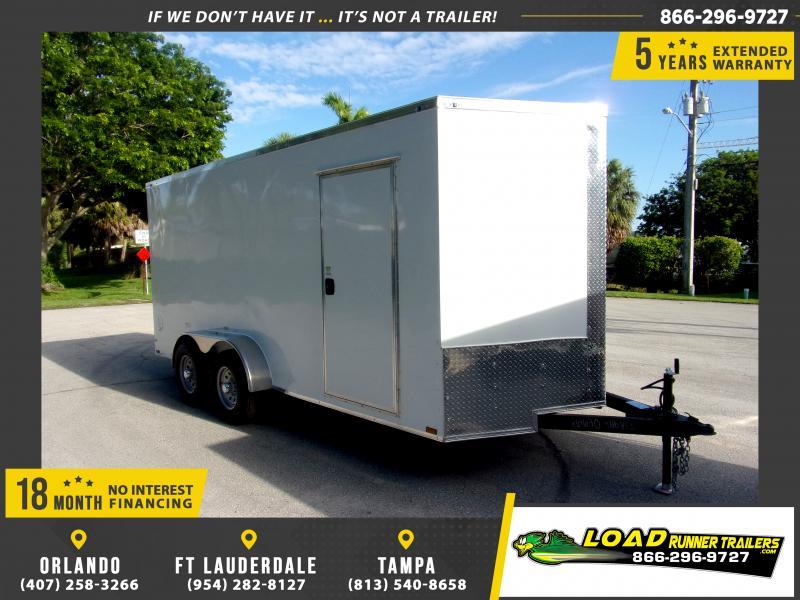 *116589* 7x16 Enclosed Cargo Trailer  LRT Tandem Axle Trailers 7 x 16