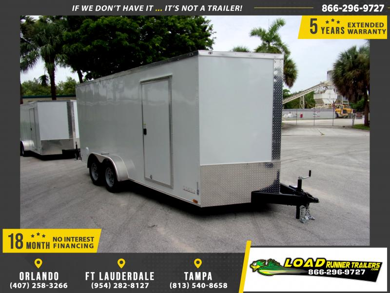 *117189* 7x16 Enclosed Cargo Trailer |LRT Tandem Axle Trailers 7 x 16