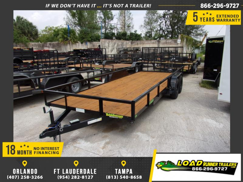 *114606* 7x20 Utility|Lawn|Multipurpose Trailer w/Tube Rail 7 x 20