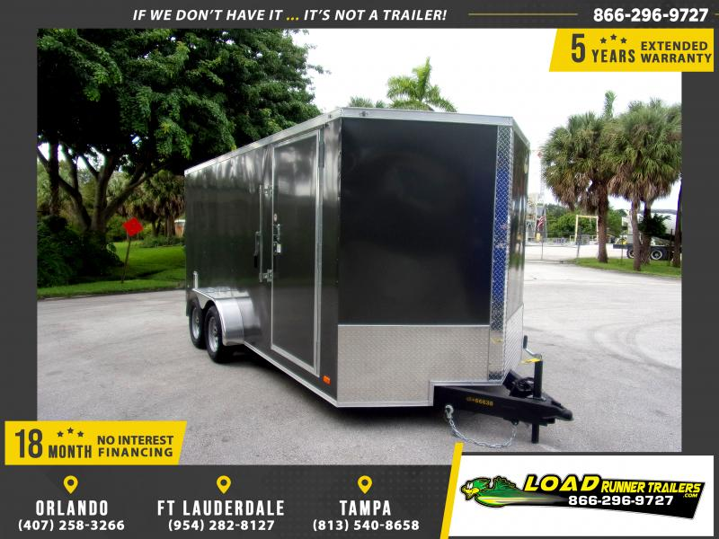*111908* 7x16 Enclosed Cargo Trailer |LRT Tandem Axle Trailers 7 x 16