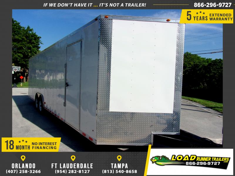 *116700* 8.5x28 Enclosed Cargo Trailer  LRT Tandem Axle Trailers 8.5 x 28