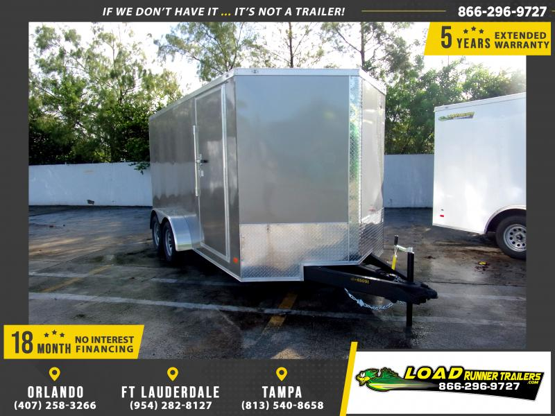 *E8I* 7x14 Enclosed Cargo Trailer |LRT Tandem Axle Trailers 7 x 14 | EV7-14T3-R