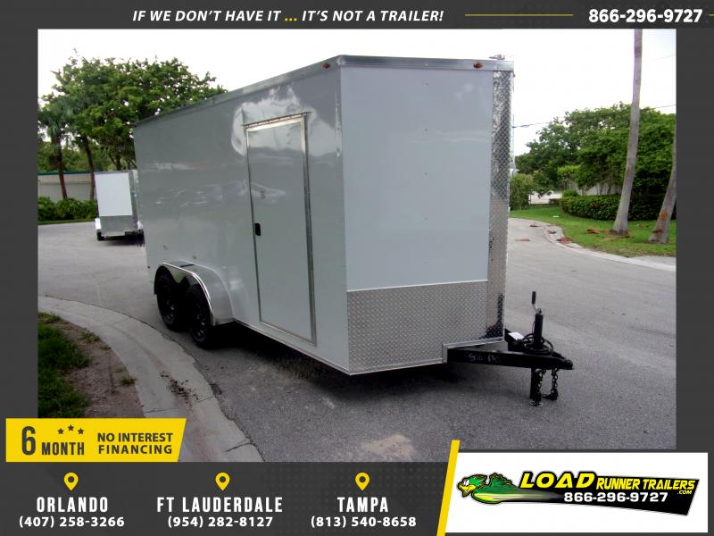 *116513* 7x14 Enclosed Cargo Trailer |LRT Tandem Axle Trailers 7 x 14