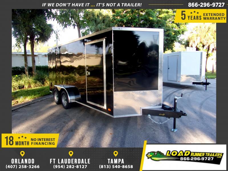 *118130* 7x16 Enclosed Cargo Trailer |LRT Tandem Axle Trailers 7 x 16