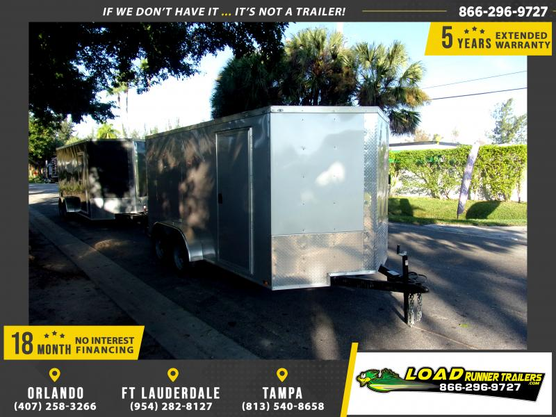 *112882* 7x14 Enclosed Cargo Trailer |LRT Tandem Axle Trailers 7 x 14