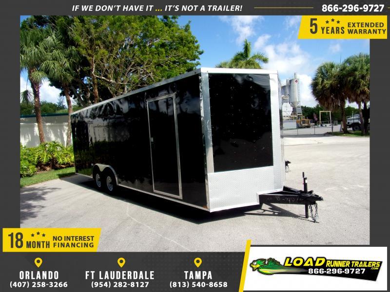 *117296* 8.5x24 Enclosed Cargo Trailer  LRT Tandem Axle Trailers 8.5 x 24