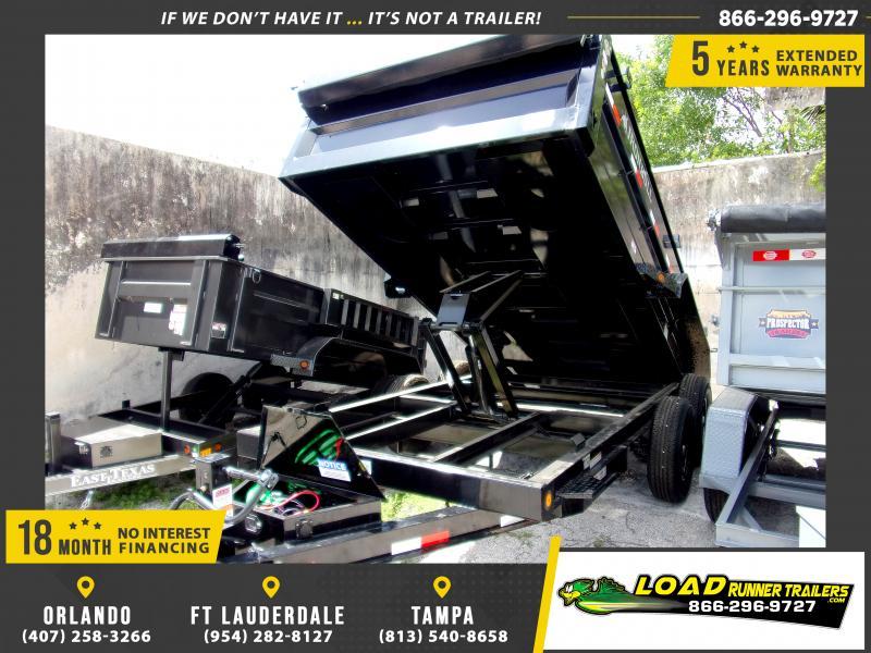 *115572* 7x14 Dump Trailer  LRT Tandem Axle Trailers 7 x 14