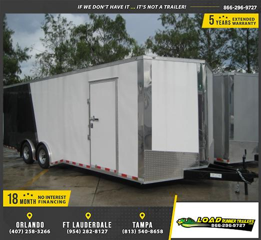 *E12C* 8.5x24 Enclosed Car Hauler Cargo Trailer HAULERS 8.5 x 24 | EV8.5-24T5TS-R