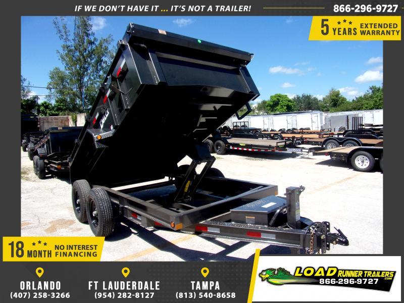 *116489* 7x12 Dump Trailer |LRT Tandem Axle Trailers 7 x 12