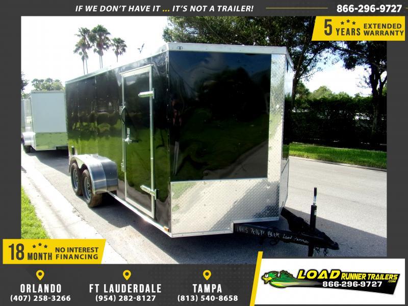 *114633* 7x16 Enclosed Cargo Trailer |LRT Tandem Axle Trailers 7 x 16