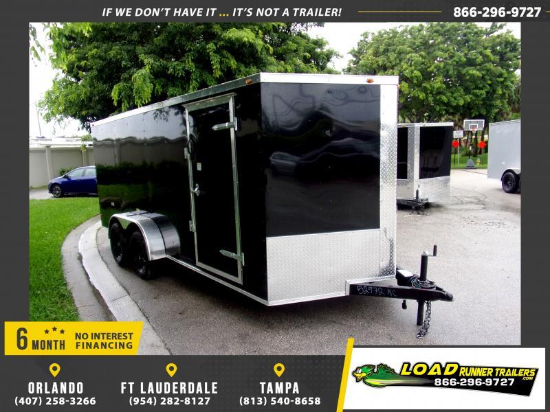 *116806* 7x16 Enclosed Cargo Trailer  LRT Tandem Axle Trailers 7 x 16