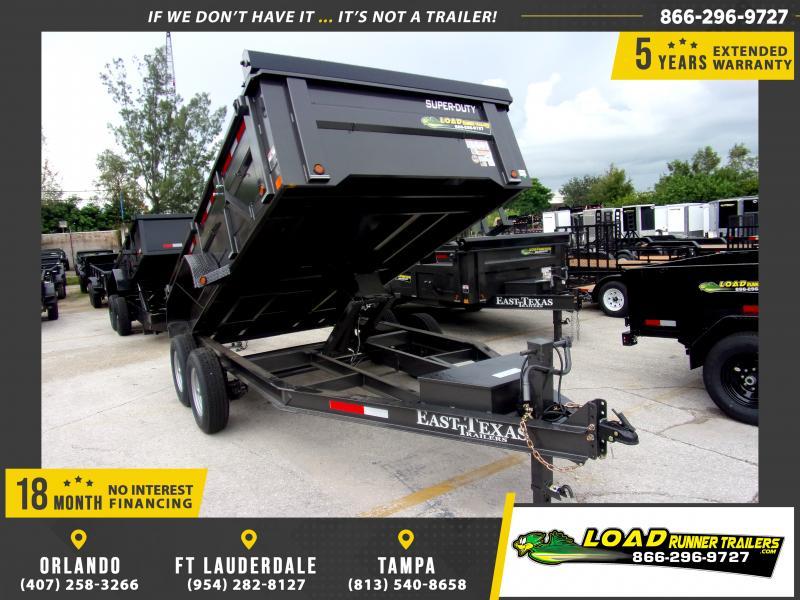*117418* 7x14 Dump Trailer  LRT Tandem Axle Trailers 7 x 14