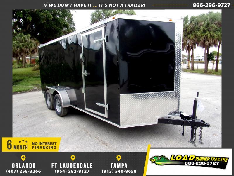 *116665* 7x16 Enclosed Cargo Trailer  LRT Tandem Axle Trailers 7 x 16