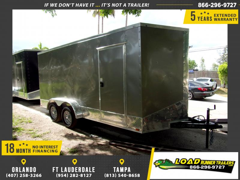 *115144* 7x16 Enclosed Cargo Trailer |LRT Tandem Axle Trailers 7 x 16