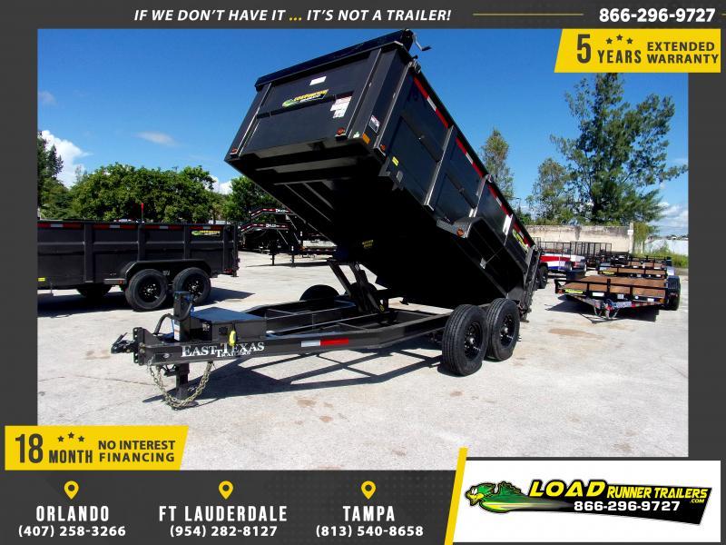 *111782* 7x14 Dump Trailer |LRT Tandem Axle Trailers 7 x 14