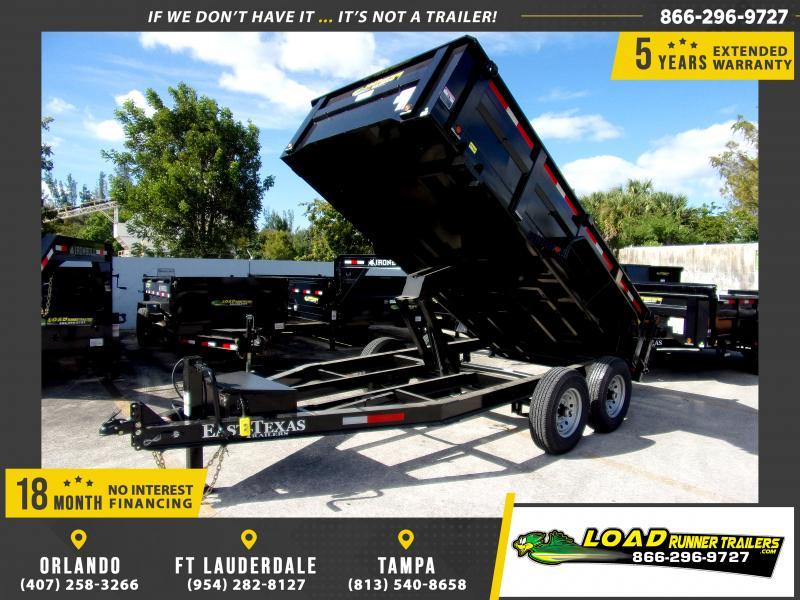 *112681* 7x14 Dump Trailer |LRT Tandem Axle Trailers 7 x 14