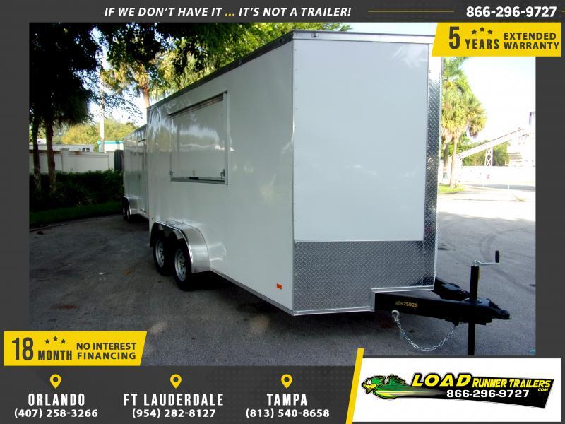 *117790* 7x14 Enclosed Cargo Trailer w/Concession Window 7 x 14