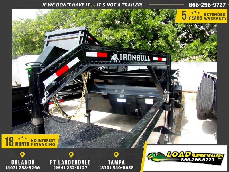 *117107* 7x16 Gooseneck Dump Trailer |LRT Tandem Axle Trailers 7 x 16