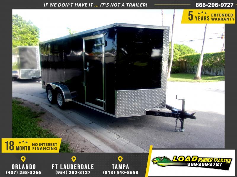 *118000* 7x16 Enclosed Cargo Trailer  LRT Tandem Axle Trailers 7 x 16
