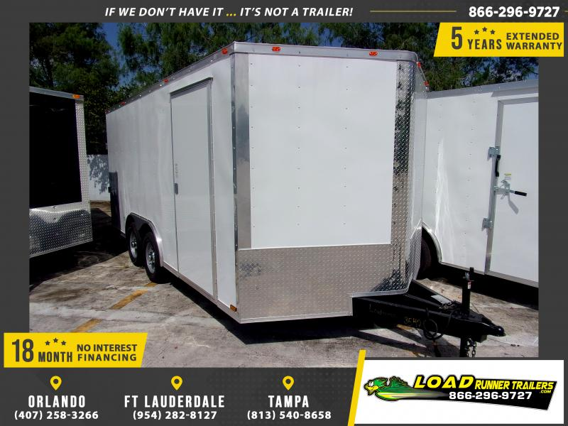 *110521* 8.5x16 Enclosed Cargo Trailer |LRT Tandem Axle Trailers 8.5 x 16