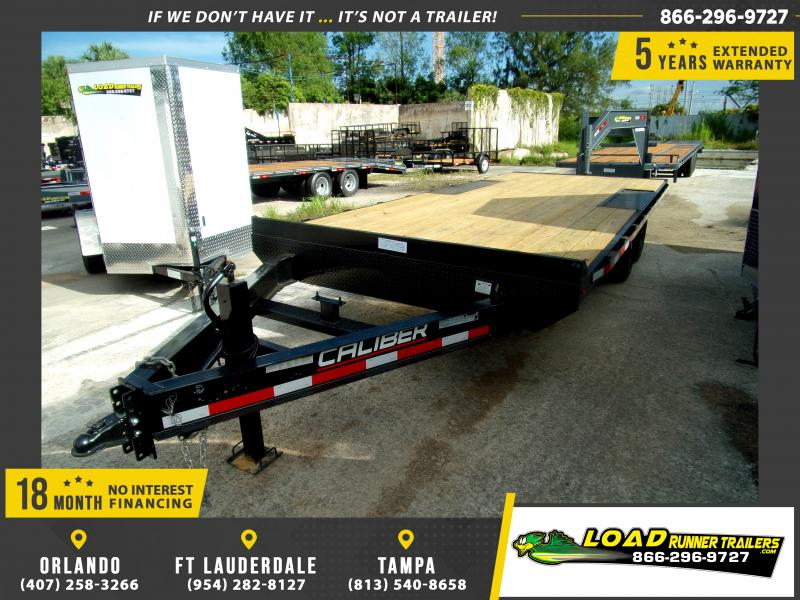 *FC33* 8.5x20 Flatbed Deck Over Trailer |LRT Tandem Axle Trailers 8.5 x 20 | FC102-20T7-BE