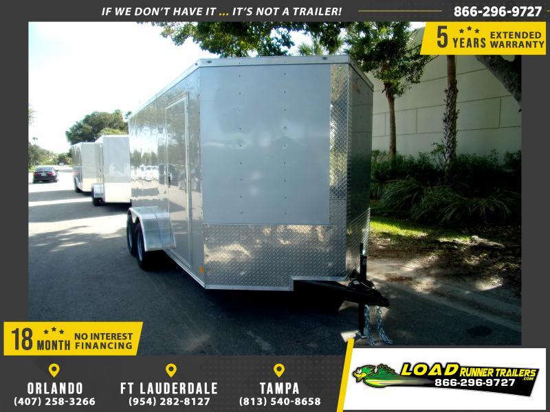 *113289* 7x14 Enclosed Cargo Trailer |LRT Tandem Axle Trailers 7 x 14