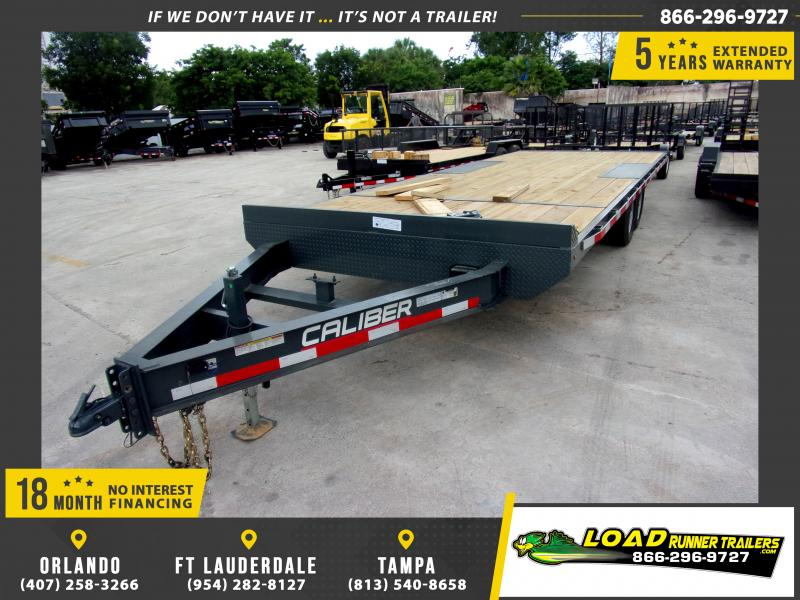 *116710* 8.5x22 Med Duty Flatbed Bumper Pull Deck Over Trailer LRT Trailers 8.5 x 22