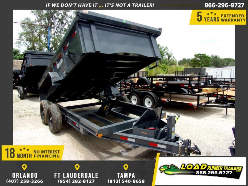 *116421* 7x14 Dump Trailer  LRT Tandem Axle Trailers 7 x 14
