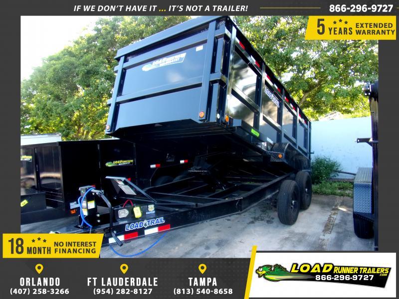 *114430* 7x14 Dump Trailer |LRT Tandem Axle Trailers 7 x 14