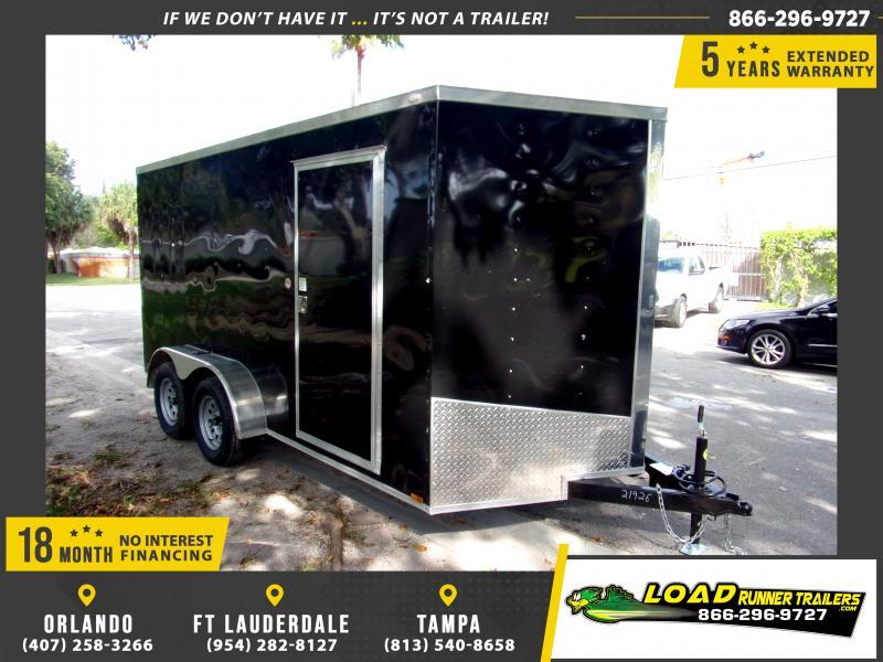 *114045* 7x14 Enclosed Cargo Trailer |LRT Tandem Axle Trailers 7 x 14