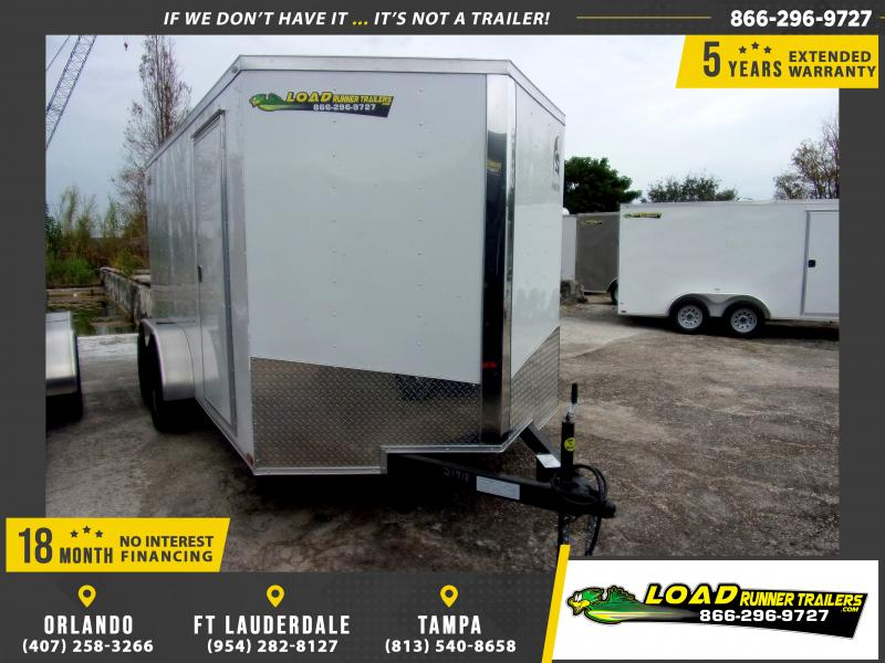 *113048* 7x14 Enclosed Cargo Trailer |LRT Tandem Axle Trailers 7 x 14