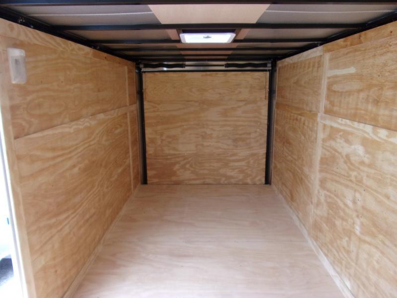 *113048* 7x14 Enclosed Cargo Trailer  LRT Tandem Axle Trailers 7 x 14