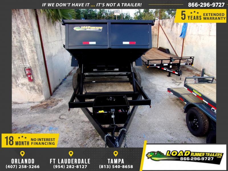 *116281* 7x14 Dump Trailer |LRT Tandem Axle Trailers 7 x 14