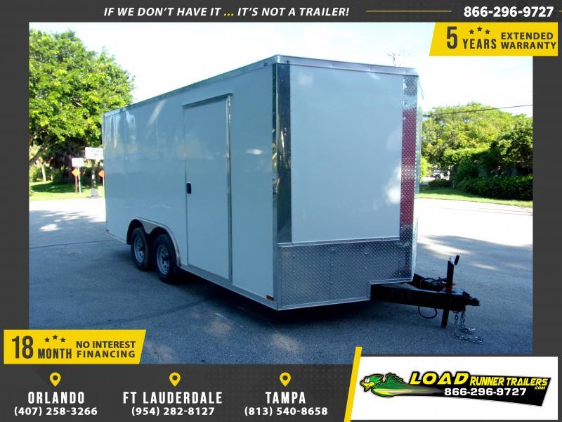 *117521* 8.5x16 Enclosed Cargo Trailer |LRT Tandem Axle Trailers 8.5 x 16