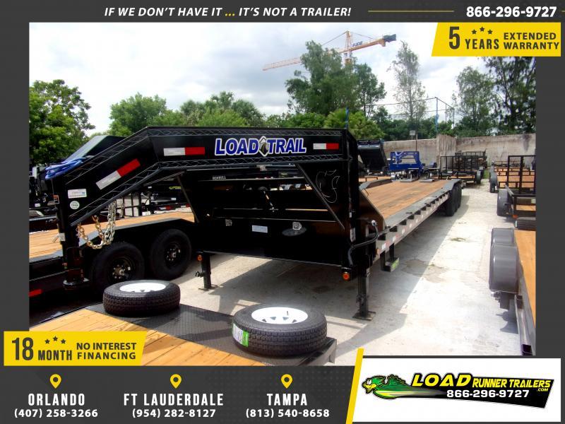 *115472* 8.5x40 Gooseneck Car Trailer |LRT Tandem Axle Trailers 8.5 x 40