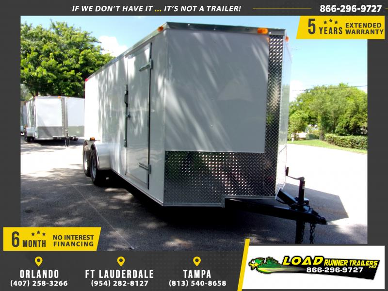 *111724* 7x16 Enclosed Cargo Trailer |LRT Tandem Axle Trailers 7 x 16