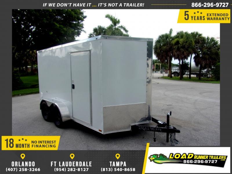 *116687* 7x12 Enclosed Cargo Trailer  LRT Tandem Axle Trailers 7 x 12